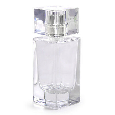Cosmetic Rectangle Glass 50ml Spray Bottle Atomizer Empty Perfume Bottle Hot