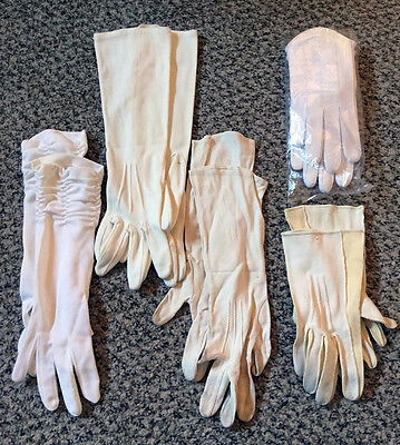 Vintage White Glove Lot Set of 5 Pairs Dress Up Play Props