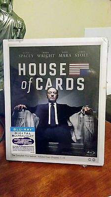 House of Cards: The Complete First Season (Blu-ray Disc, 2013) Brand New