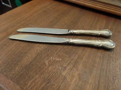 2 Towle Sterling Silver, French Provincial, Hollow Handle Stainless Blade Knives