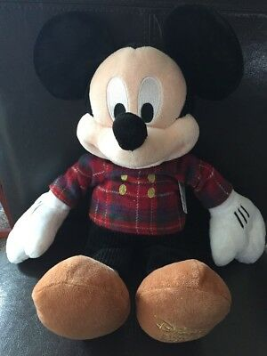 RARE Walt Disney Store 2013 Plaid Outfit Mickey Mouse 17 Inch Plush! NWT!!
