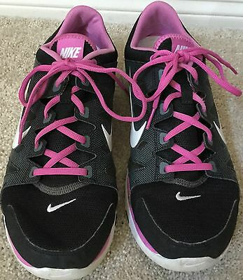 Womens Nike Training Athletic Running Shoes Sneakers Grey Pink 616694-007 Sz 11