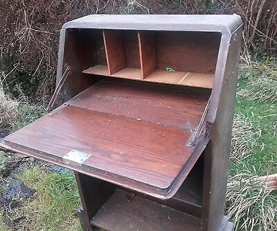 vintage BUREAUX desk student writing bookcase shelves