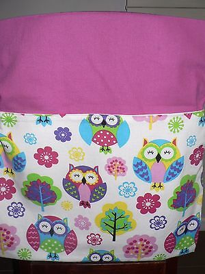 Kids Handmade Chair Bags First Name Embroidered Free Owls Print