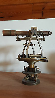 GURLEY NY BRASS SURVEYOR'S TRANSIT with COMPASS, c. EARLY 1900s
