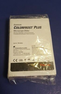 Shandon Colorfrost Plus Microscope Slides 100ct Violet Colorfrost Plus