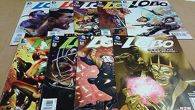 9 Comics Lot New 52 Lobo issues 1 through 8 & 13 Nice Run 1st Prints VF/NM+