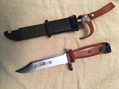 Polish AK-47 Bayonet with Sheath and Leather Frog