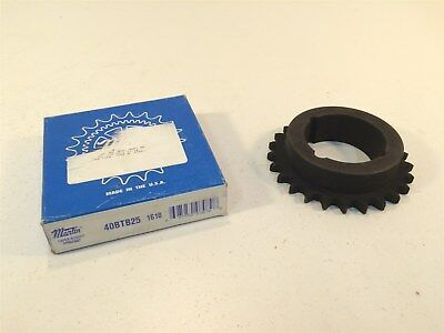 "Martin 40BTB25 1610 Sprocket Made in USA 40 Chain 25T Bushed TB Bore 0.5"" Pitch"