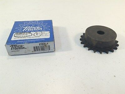 "Martin 41B20 Sprocket Made in USA 41 Chain 20T 0.5"" Pitch - Stock Bore"