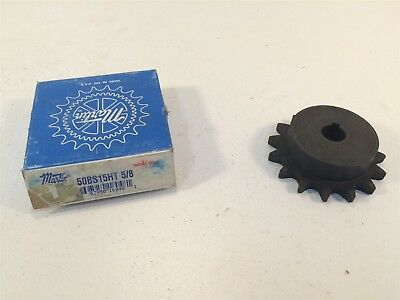 "Martin 50BS15HT 5/8 Sprocket Made in USA 50 Chain 15T 0.625"" Pitch  0.625"" Bore"