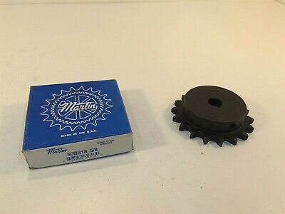 """Martin 50BS18 5/8 Sprocket Made in USA 50 Chain 18T 0.625"""" Pitch 0.625"""" Bore"""