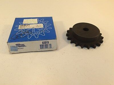 "Martin 60B19 Sprocket Made in USA 60 Chain 19T 0.75"" Pitch Stock Bore"