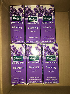 6x Kneipp Herbal Bath Oil Balancing Lavender 100ml With Natural Essential Oils