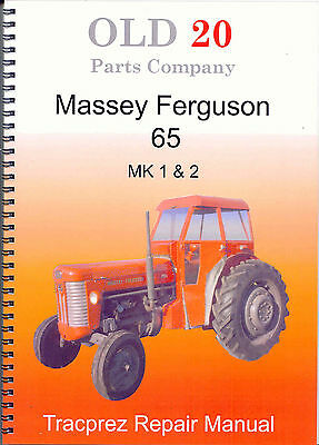 Massey Ferguson 65 Mk 1 & 2 Workshop Repair Manual