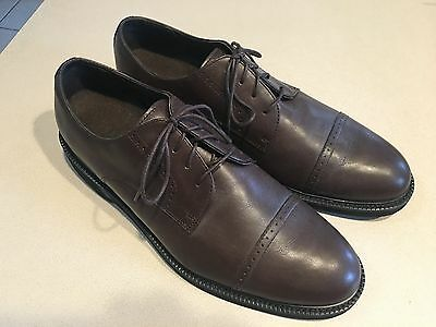 EASTLAND Men's Grey Leather Cap Toe Oxford Shoes Size 10W