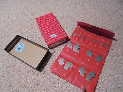 VINTAGE STARRETT RADIUS GAGE SET S167CHZ, In Case, In Box, Excellent (JB)
