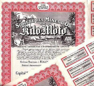 Wholesale Lot 40 Rare Red 1944 Congo Gold Mine Bonds! Hot Item Insane Price 1.75