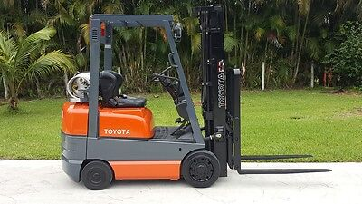 Toyota Forklift 3500 Lbs Only 1390 Hours Lpg 42-6Fgcu18