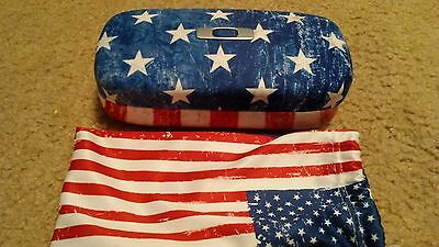 Oakley Square O Hard Case USA flag with cleaning bag!!