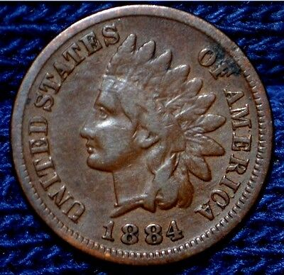 1884 Indian Head Cent**Partial LIBERTY**Nice Brown