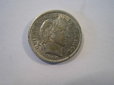 1906 Barber Silver One Dime Nice HIGH Grade Coin AS SHOWN US Coin *7181