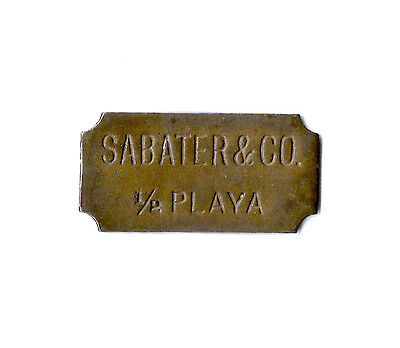 Sabater Trolley Transportation Token 1/2 Playa Mayaguez Puerto Rico Token