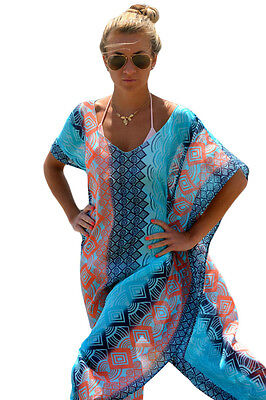 Chic Graphic Miami Beach top cover up Poncho dress