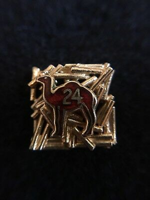 Alcoholics Anonymous 14k Yellow Gold Camel Pin Badge 24 Hrs Without A Drink