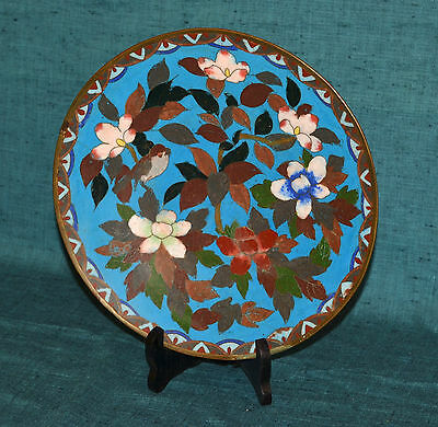 Lovely Antique Japanese Cloisonne Charger Plate Meiji Era