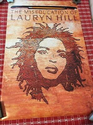 Lauryn Hill 22x35 The Miseducation Of Music Poster 1998 Original 22 X 34.5
