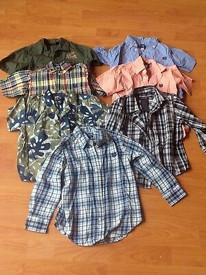 3T Boys Chaps, TCP, Kenneth Cole, Calvin Klein, Dress Shirts Button Up Lot of 7
