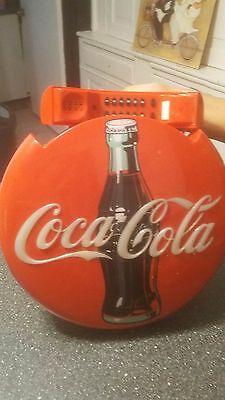 Vintage 1995 Coca-Cola Coke Red Button Round Disc Collectible Telephone - Works