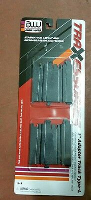 """AutoWorld 3"""" Adapter HO Slot Car Track Type-L AW/AFX/Tomy to Life-Like 00177"""