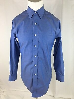 Brooks Brothers Men's Blue Slim Fit Non Iron Dress Shirt 15 32