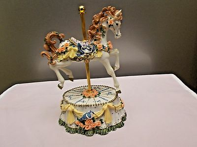 "CAROUSEL HORSE Music Box, plays ""YOU LIGHT UP MY LIFE"", HERITRIGE HOUSE"