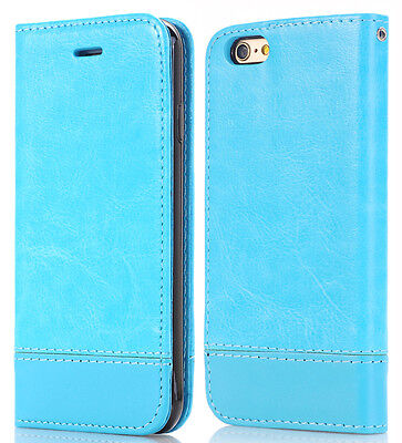 Slim Leather Wallet Card Cash Holder Flip Case Cover Stand For Apple iPhone 6 6s