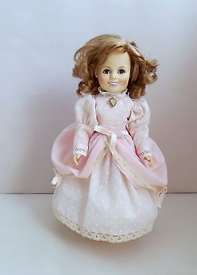 """Vintage Shirley Temple 11.5"""" Doll Blond Hair&Sleeping Eyes 1982 Ideal Toy Corp."""