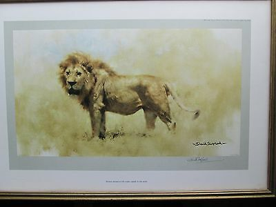 David Shepherd signed Limited Edition Print of a Lion