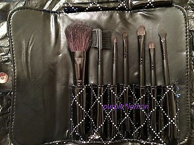 Set 7 pennelli professionali con custodia nera lucida Make Up Cosmetic Brush Kit
