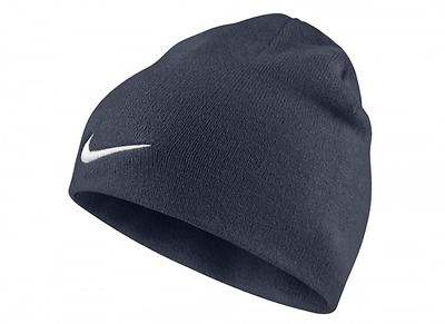 Nike Team Performance Beanie Hat Obsidian Swoosh Sports Activewear Casual Adult