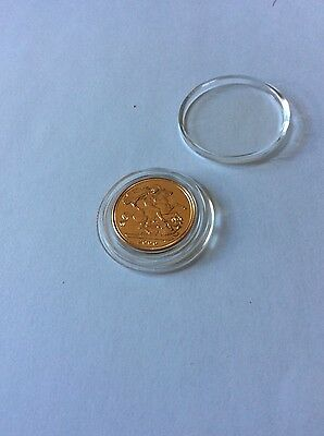 Year 2000 Gold Sovereign bullion coin, 22 ct gold, 7.98g, in airtite capsule