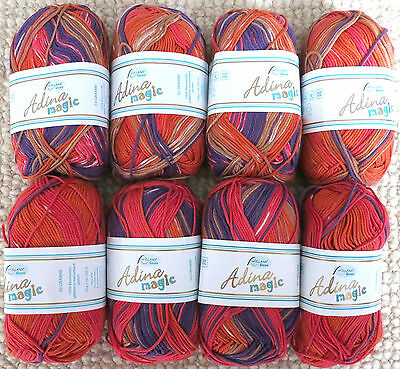 400g (8 x 50g) Adina Magic Garn von Rellana 100% Baumwolle (1083)