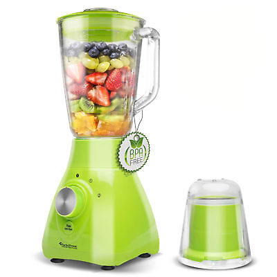800 Watt Glas Standmixer 1,5L inkl. Kaffeemühle (1,1PS) Smoothie Maker Blender G