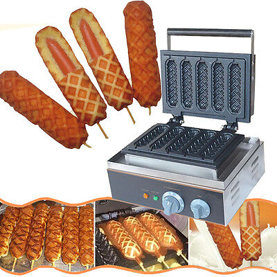 Electric corn dog waffle maker_lolly hot dog waffle maker machine US
