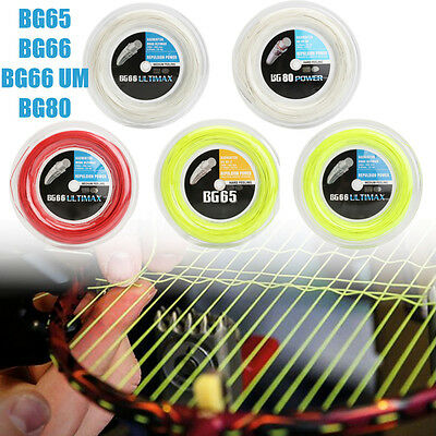 200 Metres Badminton String Coil Multicolor for YONEX BG65, BG66 UM, BG80, BG66