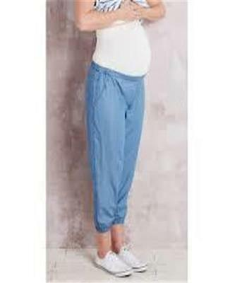 Womens Crossroads Roll Waist Maternity Chambray Soft Pants Sz 22 New With Tag
