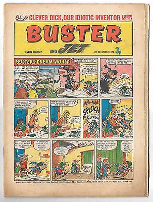 Buster 4 Dec 1971 (top grade) Faceache, Galaxus, Fishboy, Clever Dick...
