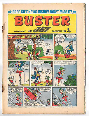 Buster 9 Oct 1971 (high grade) Faceache, Galaxus, Fishboy, Clever Dick...