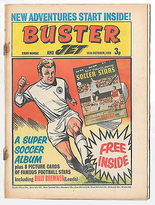 Buster 16 Oct 1971 (high grade) Faceache, Galaxus, Fishboy, Clever Dick...